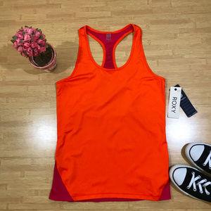❤️ NWT Roxy Orange Maroon Racerback Workout Tank